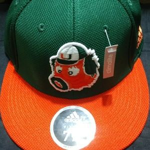 Adidas Miami Hurricane Fitted Hat